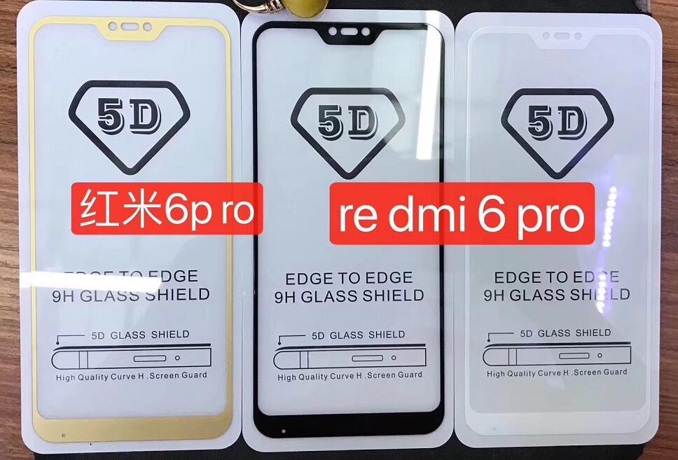 50pcs lot 5D Full Cover Tempered Glass Screen Protector For Xiaomi Redmi Mi 8 Mi 8SE