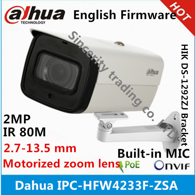Dahua 2Mp varifocal motorized lens built-in MIC IP Camera