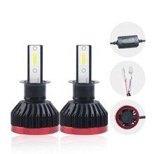 2x LED H3 Headlight Bulbs Car H4 H1 H7 H11 9005 9006 DOB 40W 4000LM 6000K 12V Automobile Headlamp Fog Lights styling