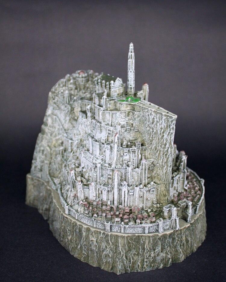Akcja toy rysunek Hobbit władca Pierścieni action figures Minas Tirith modelu zabawki miedź statua imitacja nowość popielniczka