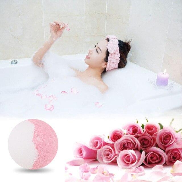 Bath Salt Bombs Balls Whitening Moisture Essential Oil Body Scrubrose Oil Bath Ball Bomb for Home Bathroom Spa Bath 3