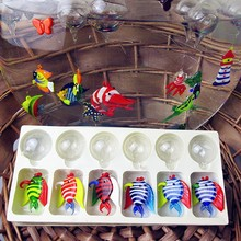 Custom manufacturers, Munuola island style hand blown glass aquarium fish float decoration tropical Figurine gifts