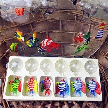 Produttori personalizzati, di Murano isola di stile fatto a mano di vetro galleggiante pesce decorazione acquario di pesci tropicali Figurine regali
