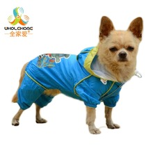 Dog Clothes Cat Raincoat Hooded Waterproof Pet Dog Clothes Slicker Products For Small Dogs Jumpsuit Solid Mesh Thick