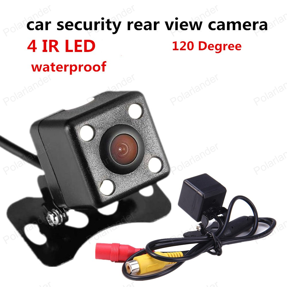 best selling 120 Degree view angle Night Vision reverse camera CCD security car rear view camera 4 LED image