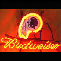 Néon Signe Budweiser Bud Light Peut STEELE MAN CAVE Redskin Football Kansas Jumeaux Jersey UBS Raiders Dauphins HORSEGlass Tube 13x8