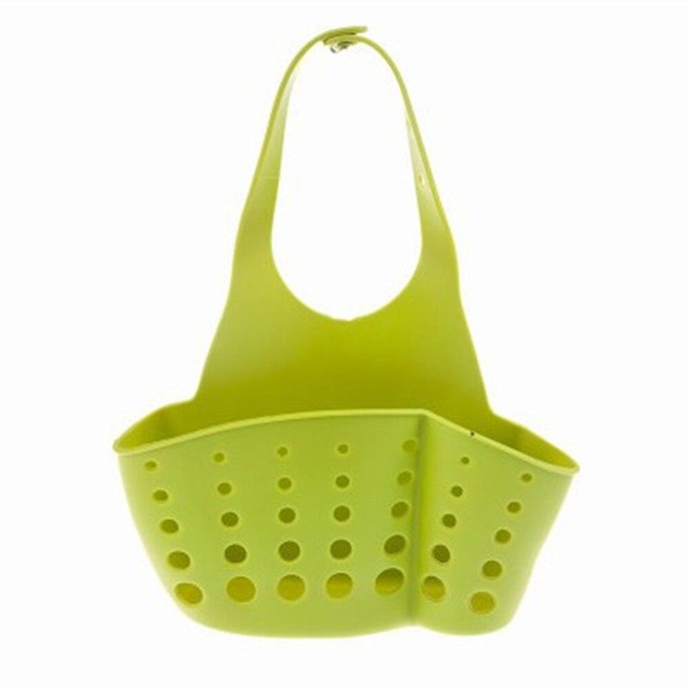 4 Colors Kitchen Sink Faucet Caddy Bath Racks Hanging Organizer Sink Draining Soap Sponge Towel Holder Pocket Storage Baskets