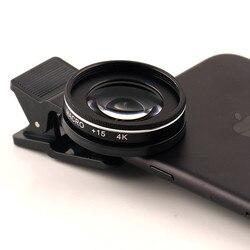 Umeitu obiektyw telefonu 15X obiektyw makro szkło optyczne dla iPhone X 8 7 Plus uniwersalny 4K HD mobilne obiektywy makro dla Huawei Samsung LG