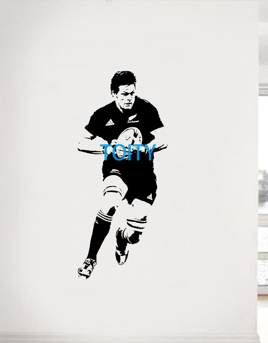 Richie McCaw Wall Sticker New Zealand former rugby union player Vinyl Decal Sport Poster Boy Room Graphic Mural S M L