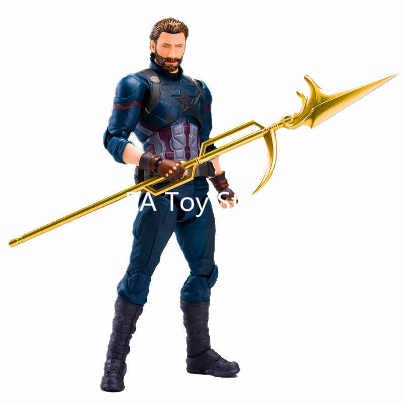 Infinito Guerra Super Herói Capitão América Avengers PVC Action Figure Collectible Modelo Toy 16CM