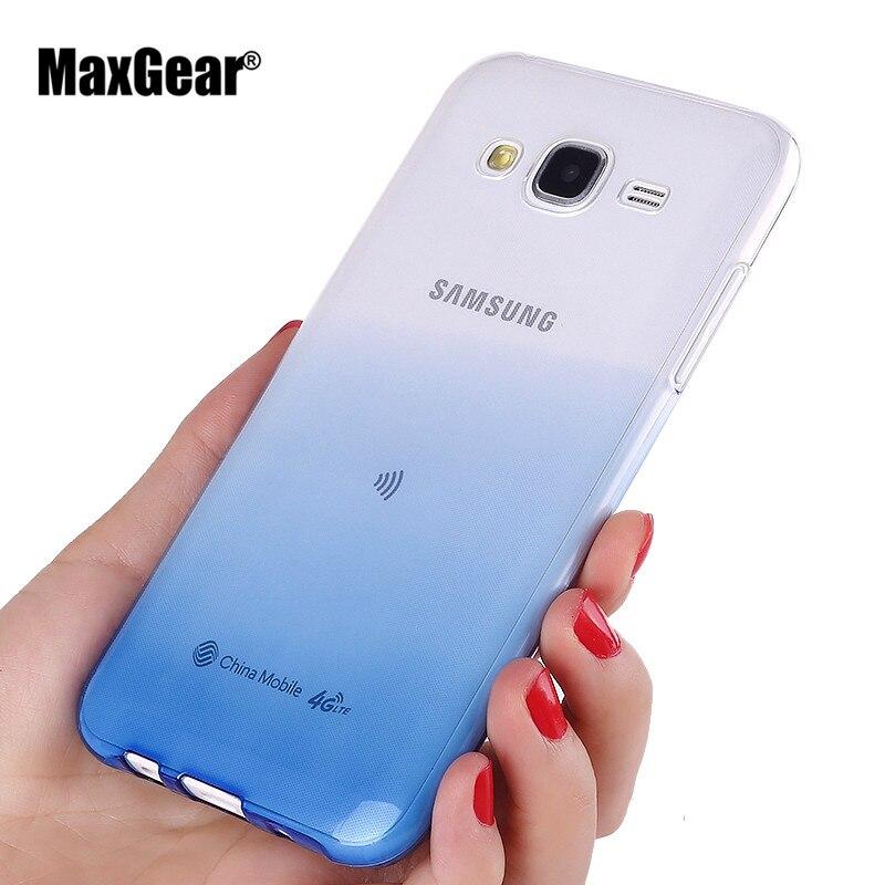 Ultra Thin Gradient Soft TPU Cover For Samsung Galaxy J5 J500 J500F J7 J700 J1 Ace 2015 Case Colorful Back Skin Phone