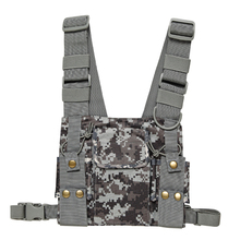 CS Tactics Chest Harness Front Pack Pouch Holster Vest Rig for Baofeng UV 5R UV 82 888S Radio Walkie Talkie Rescue Essentials