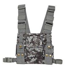 Cs Tactiek Borst Harnas Front Pack Pouch Holster Vest Rig Voor Baofeng UV 5R UV 82 888S Radio Walkie Talkie Rescue essentials