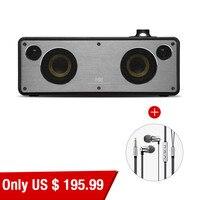 GGMM M3 Wireless Bluetooth Speakers Subwoofer Audio Stereo WiFi Speaker And In Ear Metal Earphone Hands