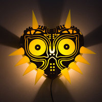 The Legend of Zelda Majora's Mask Night Lights 16Colors Changing LED Wall Lamp with Remote Control for Living Room Home Decor