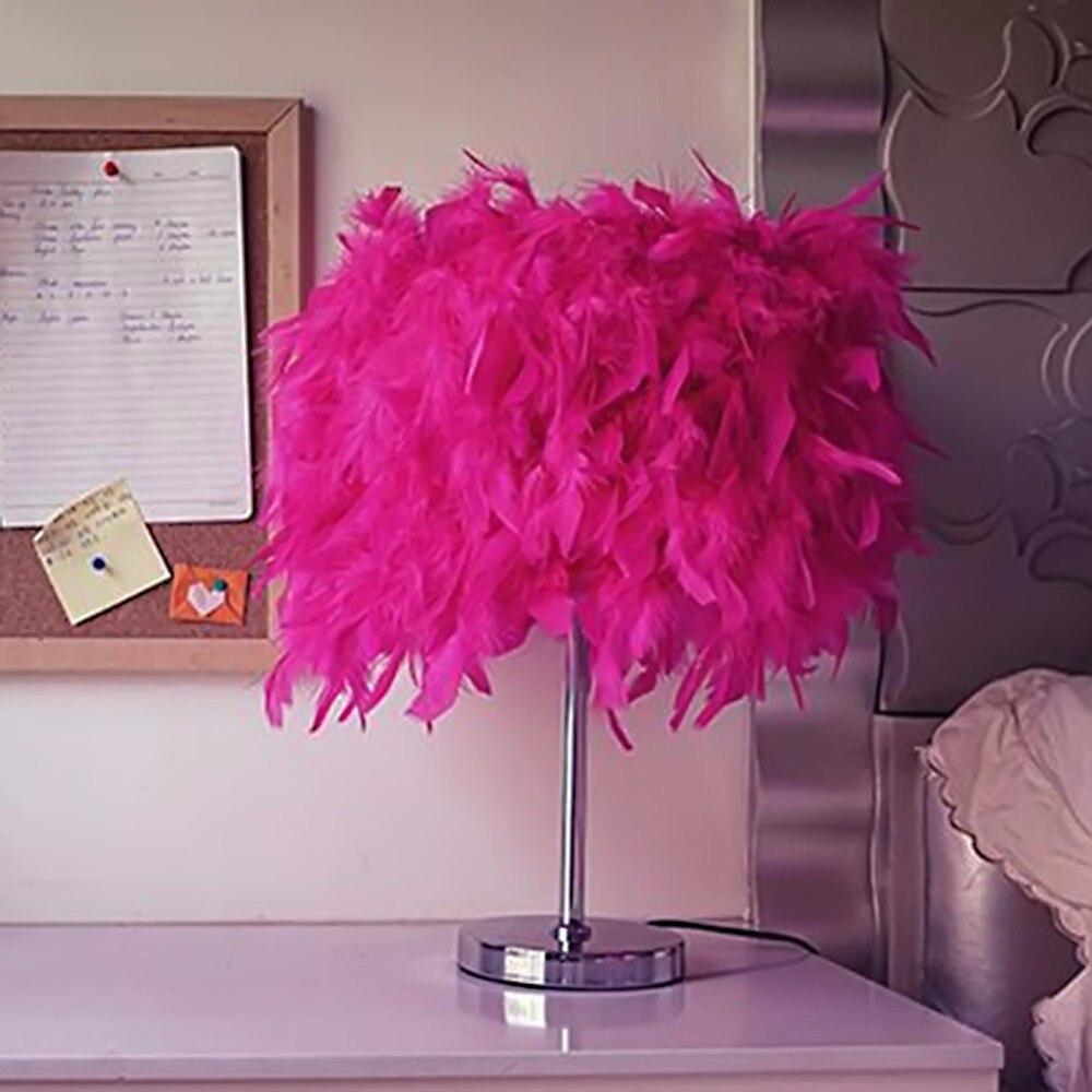 achetez en gros lampe de table de plumes en ligne des. Black Bedroom Furniture Sets. Home Design Ideas
