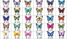 100pcs/lot Simulation Butterfly 5cm Home Decoration Buterfly Wall Stickers Decal Magnet Crafts Holiday