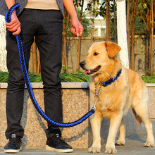 Высокое качество Модернизированный цвета воротник стереотипные веревку большая собака Поводки-Собаки Pet тягового каната воротник набор для большой собаки