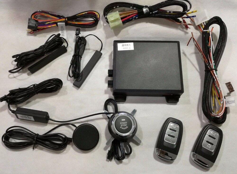 Système de clé intelligente PKE avec entrée sans clé Passive, démarrage du moteur et démarrage à distance, universel