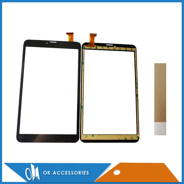 8.0 Inch For <font><b>Dexp</b></font> Ursus <font><b>N280</b></font> Tablet <font><b>Touch</b></font> Screen Digitizer Panel Black Color With Tape 1PC /Lot image