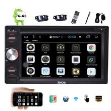 Cameras+Android 6.0 Car DVD Player 2Din Car Stereo Capacitive Screen GPS Navigation Auto Radio Support WiFi OBD2+External Micro