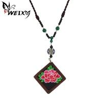 WEIXY New Fashion Retro Statement Necklace Original Handmade Sweater Rope Chain Chinese Style Ethnic Jewelry Best
