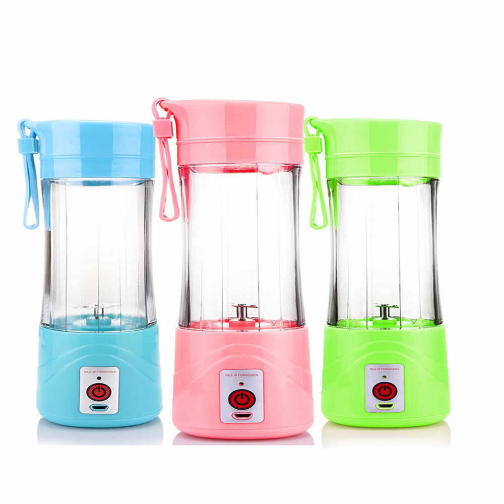 480 ml de Domicílios Mini USB Portátil Recarregável Garrafa Copa Citrus Juicer Blender Milkshake de Legumes Frutas Extrator De Suco