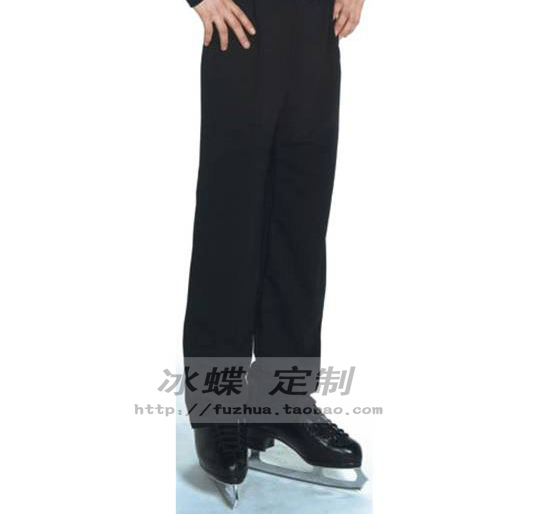 Hot Sales Ice Skating Trousers For Men Beautiful New Brand Vogue Figure Skating Trousers Competition KZ2014