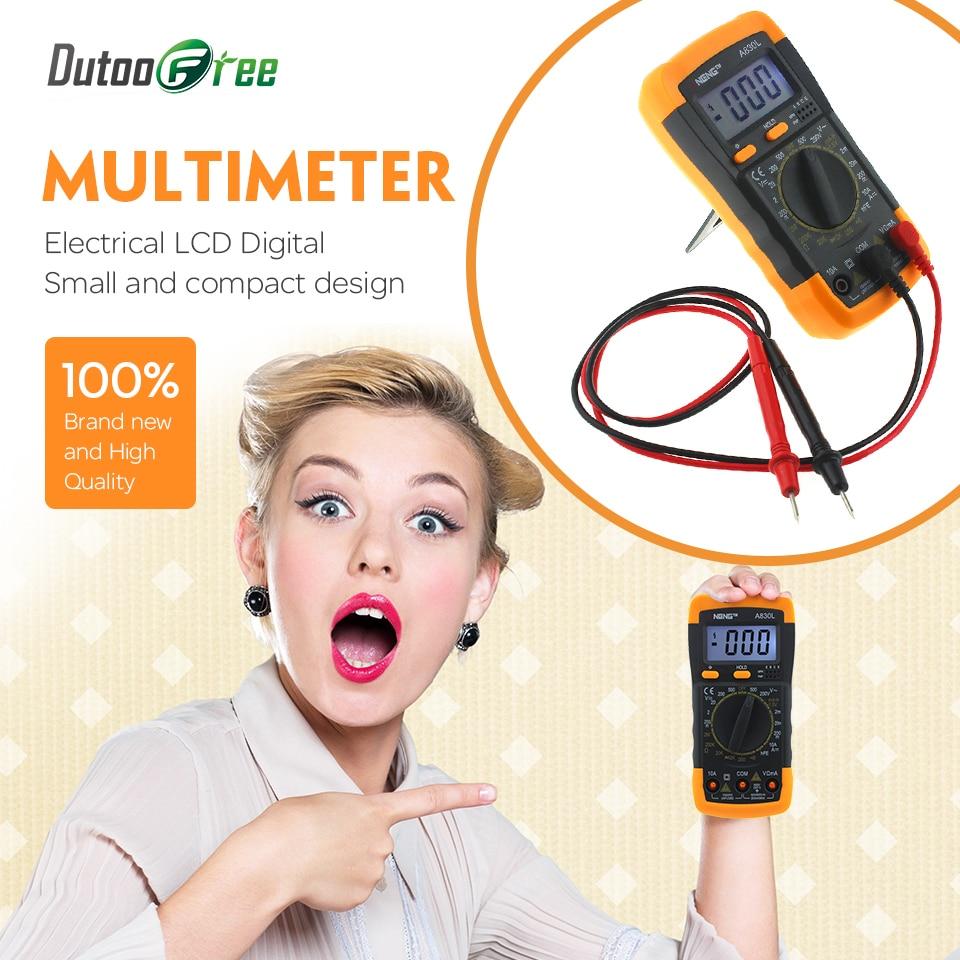 Electrical LCD Digital Multimeter Ammeter Voltmeter Ohmmeter Multi-tester AC/DC Volt Amp Ohm Meter for Factory Families Amateur
