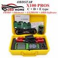 100% Original X-100 PROS (C+D+E Model) IMMOBILISER+Odometer+EEprom Adapter OBDSTAR X100 PRO Auto Key Programmer X 100 PRO