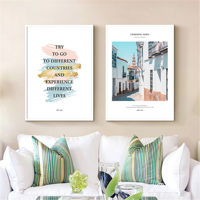 HAOCHU House Office DIY Canvas Painting Europe Building ...