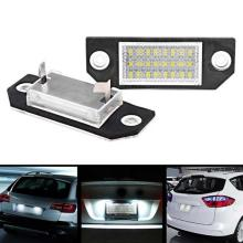 2pcs Car LED License Number Plate Light Lamp LED Number License Plate Light Xenon White White Light for Ford Focus 2pcs 10 30v 6leds license plate light lamp bulbs number plate light for motorcycle boats aircraft automotive trailer rv truck