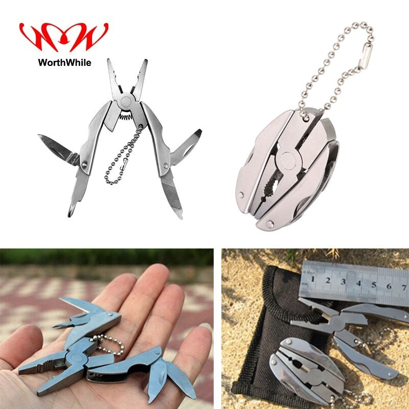 WorthWhile Multifunctional Foldable Beatles Pliers for Outdoor Camping Stainless Steel Survival First Aid Kits Pocket tools ...