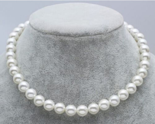 New JAPANESE AKOYA PEARL NECKLACE 8-9mm White 17.5