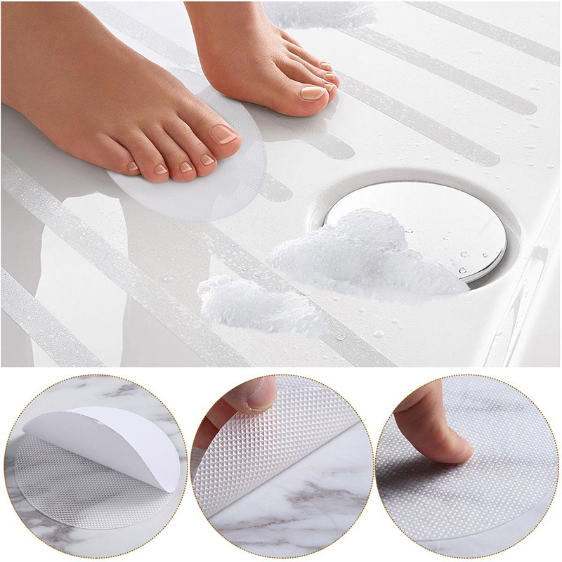 20Pcs Anti-Slip Bath Grip Stickers PEVA Round Non-Slip Mat Safety Bath Tub Shower Floor Sticker Applique Bathroom Accessories