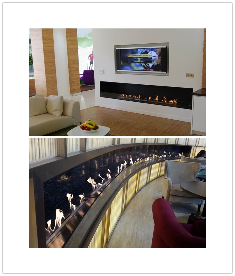 Inno Fire 60 Inch Silver Or Black Wifi Real Fire Intelligent Indoor Auto Bio Ethanol Fireplace Alcohol Burners