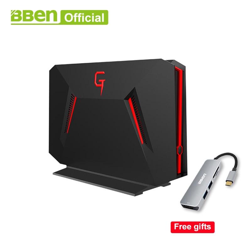 Bben DESKTOP Mini Computer Fast Boot Quad Core I7-7700HQ NVIDIA GEFORCE GTX1060 8GB/16GB RAM 128GB/256GB Option 1TB HDD Option