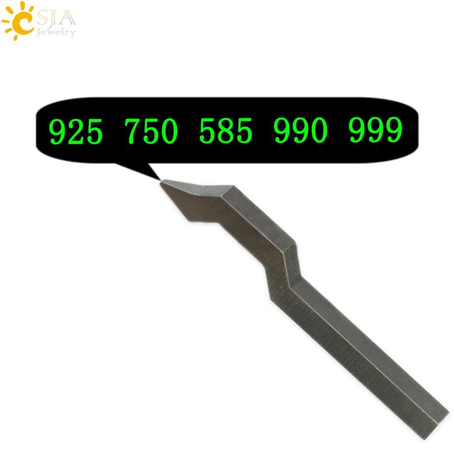 CSJA 925 750 585 999 990 Schmuck Schnalle Mark Stempel Werkzeug Gold Sterling Silber Ring Armband Ohrring Metall Stahl Punch form E177
