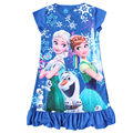 Girls Dresses Summer 2016 Anna Elsa Dress Formal Toddler Girl Dresses Printed Baby Girl Elsa Pajamas Elza Children Costume