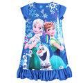 Niñas Vestidos de Verano 2016 Vestido Anna Elsa Formales Vestidos de Niña de Niño Impreso Niña Elsa Pijamas Elza Niños Traje