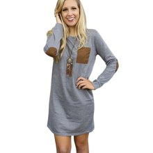 Autumn Winter Women Long Sleeve Tops Jumper Pullover Sweatshirt Mini Dress