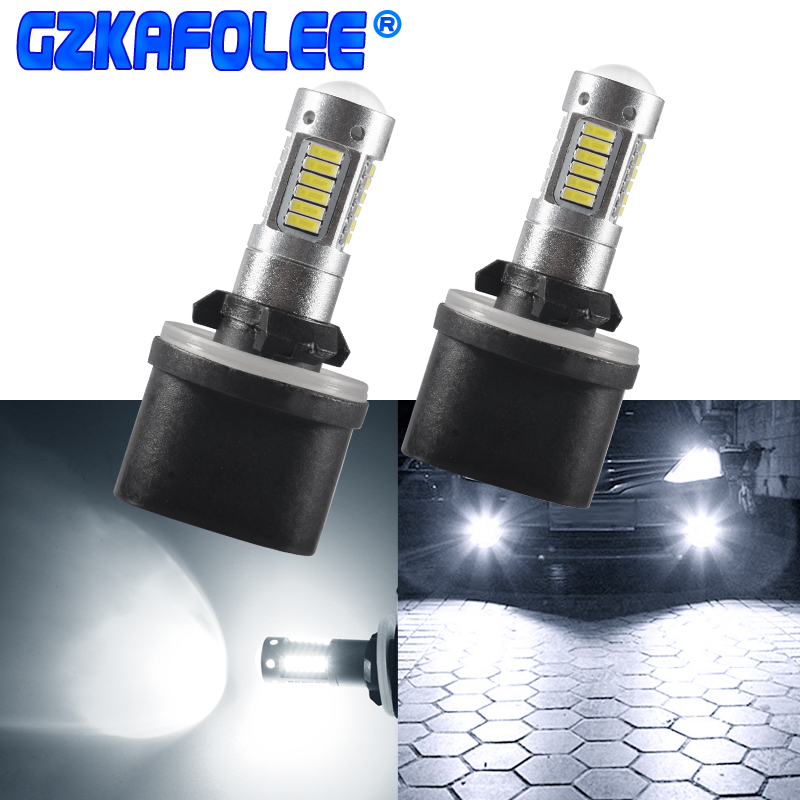 Gzkafolee h27 led 880 881 Автомобильные фары лампы Автомобильные противотуманные фары 30 SMD 4014 белый желтый