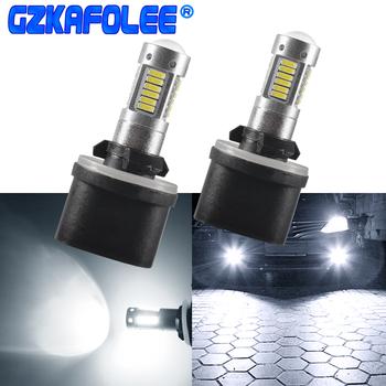 Gzkafolee h27 led 880 881 samochodów światła samochodowe żarówki lampa przeciwmgielna samochodu 30 SMD 4014 biały żółty tanie i dobre opinie 12 v h27 880 881 800LM 4014 chip*30 SMD 180 day