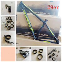 last 29er mtb 6061 Aluminium alloy Frame with Clamp+Headset+Axle+stem Mountain Bike Frame Bicycle Frame parts free shipping