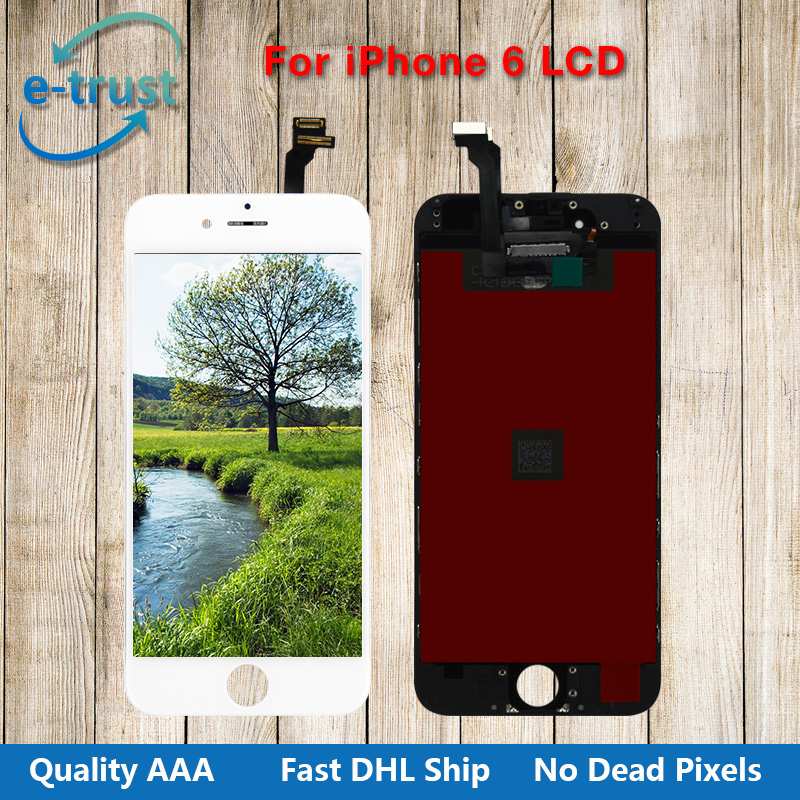 10 PCS/LOT No Dead Pixel Grade AAA+ 4.7 inch LCD Display For iPhone 6 Touch Screen Digitizer Assembly Parts With Fast Shipping
