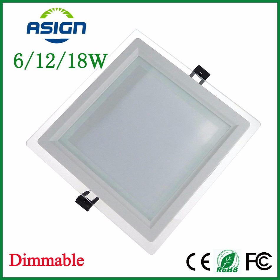 Dimmable Led Ceiling Lights India: LED Downlight Dimmable 6W 12W 18W Square LED Panel