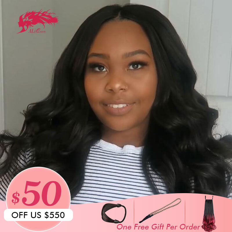 Brazilian Loose Wave Lace Front Wig 13x6 With Pre Plucked Hairline 130 150 180 Density Remy