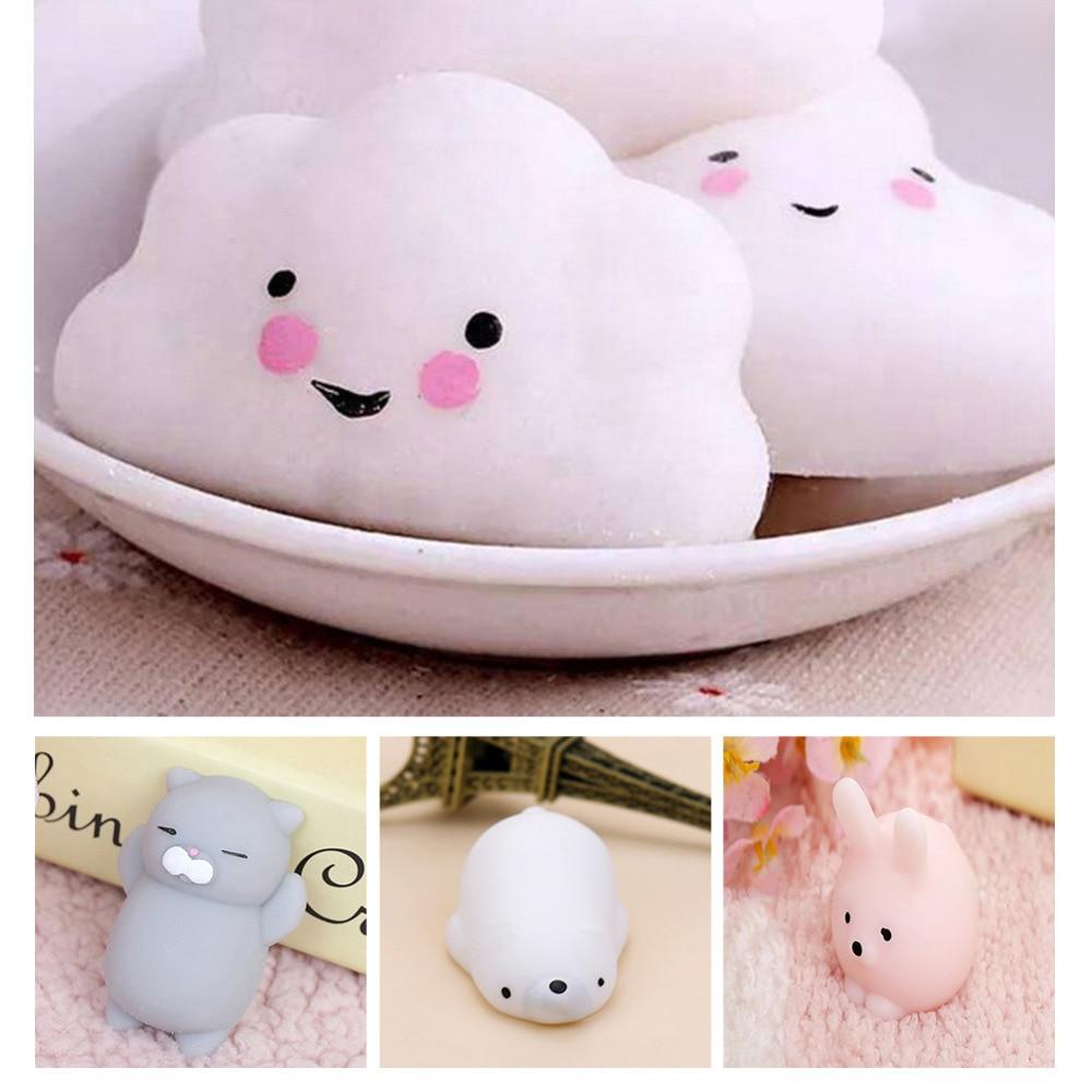 Dropshipping Cute Mochi Squishy Cat Squeeze Healing Fun Kids  Kids Adult Toy Stress Reliever Decor Multi Styles