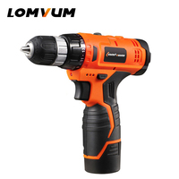 LOMVUM 12V Cordless Drill Lithium Li Ion Battery Electric Drill 22 Pure Cupper Motor 22 Torsion
