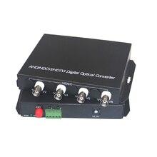 1080 P HD CVI AHD TVI 4 Kanal Video Fiber Optik Medya Dönüştürücüler RS485 Veri Için 1080 p 960 p 720 p AHD CVI TVI HD CCTV